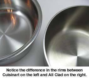 cuisinart vs all clad rims