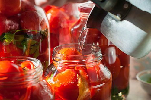 preserves, canning tomatoes in mason jar, canning