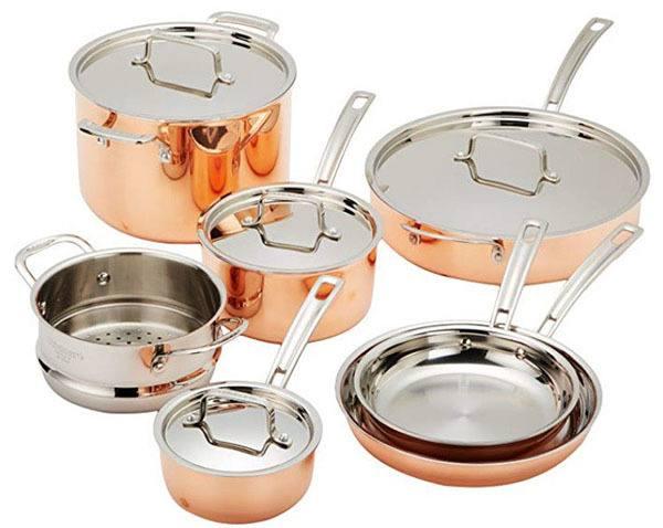 cuisinart copper cookware set
