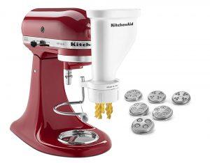 kitchenaid stand mixer with pasta press, pasta extruder