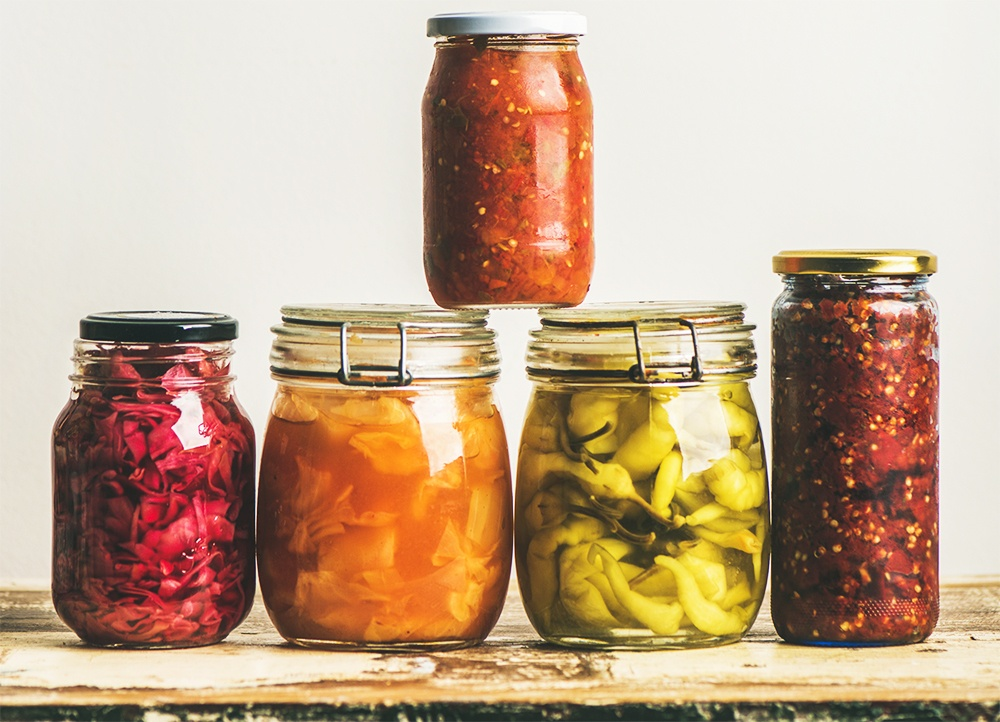 preserves, canned vegetables. canning