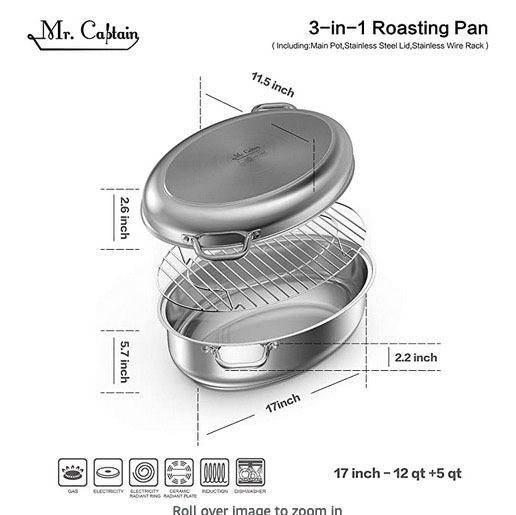 Mr Captain roasting pan